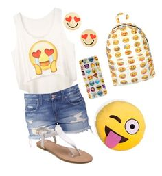 """Happy emoji day!"" by lillyc-23 ❤ liked on Polyvore"