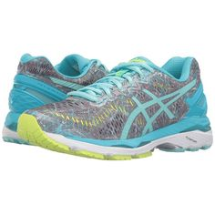 6a9afae7de ASICS Gel-Kayano 23 (Shark Aruba Blue Aquarium) Women s Running Shoes  ( 160) ❤ liked on Polyvore featuring shoes