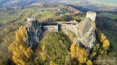 Hrad/Castle Trosky z dronu