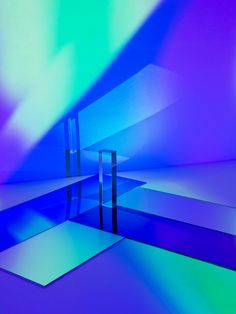 Mitch Payne, Diffraction - a photograph series consisting in several abstract colorful compositions made using opaque and transparent forms and shapes where the light is reflected.
