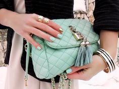 Mint Tassel Bag