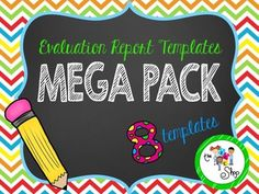{SAVE 50%} Evaluation Report Template MEGA PACK