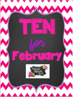 Speechie Freebies: Ten For February Packet-Valentines Themed. Pinned by SOS Inc. Resources. Follow all our boards at pinterest.com/sostherapy/ for therapy resources.