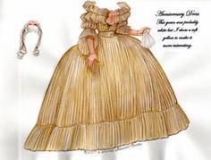 Anniversary Dress, Norma Shearer as Marie Antoinette  Paper doll, colours taken from original garment