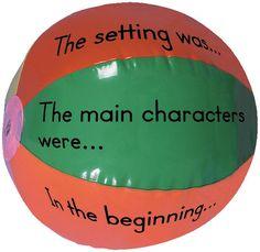 Begrijpend lezen: gooi de bal door de klas en de leerling moet antwoord geven op de vraag.