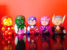Colorful Avengers - Ironman, Hulk, Capitán América, Hawkeye, Thor Iron Man, Avengers, Superhero, Fictional Characters, Plastering, Ideas, Art Sculptures, Buddha, Hipster Stuff