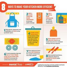 8 Ways to make your kitchen more efficient. Organization.