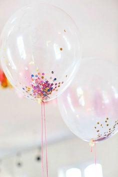 ballons confettis!