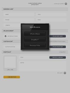Pad Folio - a portfolio program for the Ipad, Idea & Creative Director: Christoher Kuehl | User Interface & Design: Fletcher Groeneman | Icon Design: Marke Johnson | www.portfolioappl...