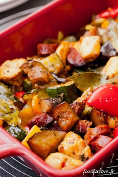 Légumes Confits au Poulet, Chorizo et Paprika Fumé #recette #légumes #facile