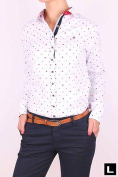 Dámska košeľa A617 Office Fashion, Shirt Dress, Blouse, Long Sleeve, Sleeves, Mens Tops, Shirts, Dresses, Women