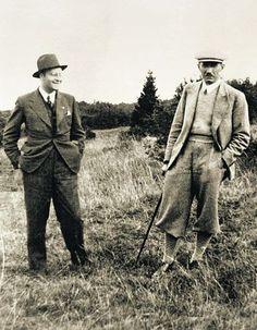 Ukrainian nationalists Yaryy Richard and Eugene Konovalets. Polish Galicia. 1930
