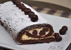 Rulada Padurea Neagra | Retete culinare cu Laura Sava - Cele mai bune retete pentru intreaga familie Mai, Desserts, Food, Tailgate Desserts, Deserts, Essen, Postres, Meals, Dessert
