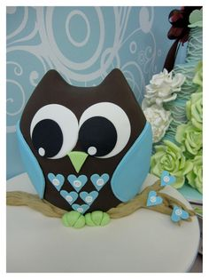 Oliver The Owl Cake Decorating Class Inspired By Michelle Designs cakepins.com