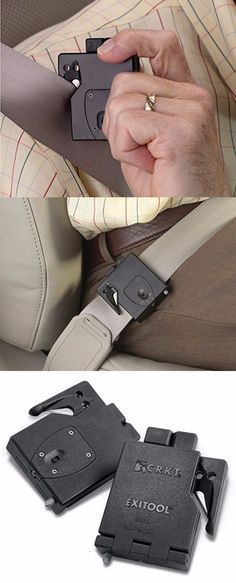 awesome I learn something new every day... like THIS emergency seat belt cutter exists!... Car Tips!