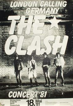 Clash -German tour poster