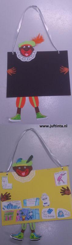 Knutselen met Sinterklaas: piet plakbord voor de verlanglijstjes