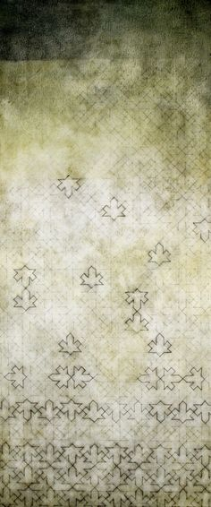 """Luisa Sartori, """"Dhiban""""; (2010); graphite, oil on prepared paper; 13x30 inches."""