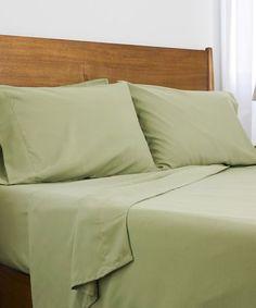 SouthShore Fine Linens Sage Green Six-Piece Brushed Microfiber Sheet Set Home Decor Bedding, Bedroom Decor, Fine Linens, Cool Beds, Flat Sheets, Sheet Sets, Hue, Mattress, Pillow Cases