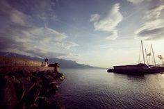 Photos de mariage au bord du lac Léman à Vevey Vevey, Reportage Photo, Opera House, Photos, Building, Places, Wedding, Travel, Lake Geneva