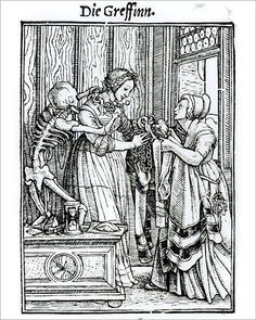 10x8 Inch (25x20cm) Print - High quality print. XJF143258 Death and the Mistress, from The Dance of Death, engraved by Hans Lutzelburger, c.1538 (woodcut) (b/w photo) by Holbein the Younger, Hans (1497/8-1543) (after); Private Collection; German, out of copyright. clothes, danse macabre, dresser, maid, mortality, necklace, skeleton. Image supplied by Fine Art Finder. Product ID:12725167_6947_0 Danse Macabre, Fine Art, Hans Holbein The Younger, Dance Of Death, Art History, Canvas Prints, Metropolitan Museum Of Art, Art, Woodcut