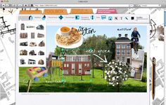 moodboard-creating app made for Heijmans Maanveld-campaign
