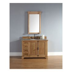 Providence 48 Natural Oak Single Vanity with Stone Top