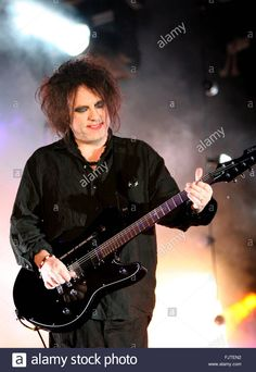 Robert Smith, Lead Singer Of British Band The Cure, Performs At ...