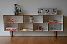 Retro MID Century Danish Modern Design White Lowline Shelf Sideboard in Melbourne, VIC | eBay