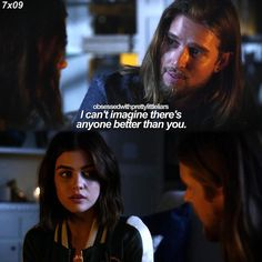 """""""The Wrath of Kahn"""" - Jason and Aria Prety Little Liars, Pretty Little Liars Quotes, Pretty Little Liars Seasons, Aria And Jason, Pll Quotes, Writing Promts, Never Trust, Happy Endings, Quote Posters"""