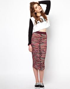 Multi Print Tube Skirt