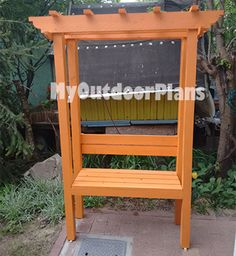 DIY Arbor Bench | Free Outdoor Plans - DIY Shed, Wooden Playhouse, Bbq, Woodworking Projects