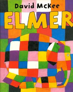 This is a read-aloud of the children's book Elmer, written by David McKee. In this story, Elmer the patchwork elephant makes himself gray with berry juice; Good Books, My Books, Elmer The Elephants, Album Jeunesse, Children's Picture Books, Character Education, Children's Literature, Conte, Read Aloud
