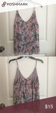 Pink & Grey Tank Blouse In great condition! Cannot model as it does not fit me. Lining and body are 100% polyester. No tears or stains. No trades and no holds. Price is firm. Charlotte Russe Tops Blouses