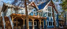 For over 40 years Cedarland Homes has been the builder of beautiful homes and cottages in the Parry Sound, Muskoka and Georgian Bay regions. Lakeside Living, Lakeside Cottage, Coastal Living, Cottage Design, Cottage Style, House Design, Rancher Homes, Linwood Homes, Lake House Plans