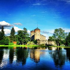 castle in Savonlinna, Finland Places To Travel, Places To Go, Native Country, Seen, Most Beautiful Cities, Imagines, Nice View, The Great Outdoors, Wonders Of The World