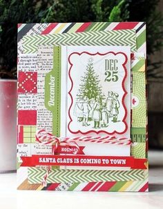 Santa Claus is Coming, card by fleursbydesign