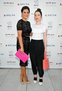 Actors Angelique Cabral and Zoe Lister-Jones attend MPTF NextGen Launch Event at…