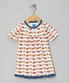 Take a look at this Blue Elephant Dress - Infant on zulily today!