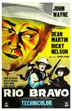 1959 movie posters | Rio Bravo, French Movie Poster, 1959 Premium Poster