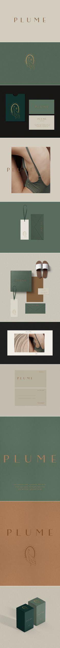 Plume swimwear logo design and brand design by Loolaa Designs Web Design, Fashion Logo Design, Icon Design, Graphic Design, Brand Identity Design, Design Agency, Brand Design, Branding Agency, Logo Branding