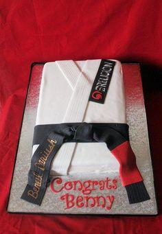 Black Belt Jiu-Jitsu cake