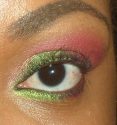 pink, green, goldish/pink color :) by meee