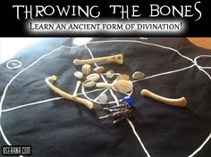 Throwing the Bones - Learn to Read Bones Wiccan Witch, Magick, Crystal Identification, Witchcraft Symbols, Tarot Cards For Beginners, Tarot Card Meanings, Modern Witch, Book Of Shadows, Learn To Read