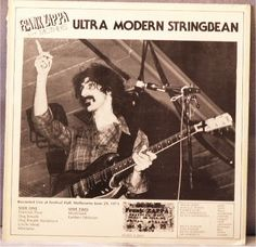 ZX Records: Frank Zappa 'Ultra Modern Stringbean', recorded Festival Hall, Melbourne, Australia, 29th June 1973. Excellent mono sound