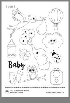 blau Kinderwagen und Wimpelkette White Cotton Cards Kleines Fotoalbum Baby s First Year