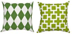 Emerald green (L) or Apple Green (R): Which one of these hues leaves you feeling green with envy? Shop now: http://www.paintapillow.com/?utm_source=JCG&utm_medium=Pinterest&utm_campaign=Home%20Page