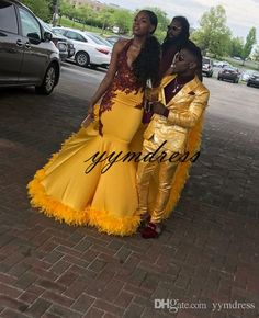 Yellow Prom Dresses 2019 New Formal Evening Gown Yellow Lace Halter Backless 2018 Sexy Women Party Gowns Yellow Sweep Train Lime Green Prom Dresses, Black Girl Prom Dresses, African Prom Dresses, Cute Prom Dresses, Prom Outfits, Homecoming Dresses, Girls Dresses, African Dress, Classy Outfits