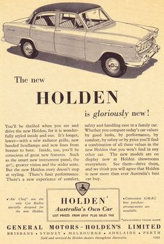 1956 FE Holden Special Gloriously New Aussie Original Magazine Advertisement Australian Vintage, Australian Cars, Vintage Cars, Antique Cars, Holden Australia, Car Posters, Commercial Vehicle, Vintage Advertisements, Old Cars