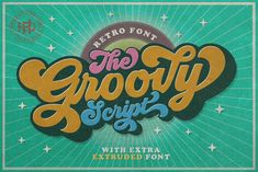 Groovy - Retro Font by Hendra Pratama on Groovy is one of my fonts based on a hand lettering project in It was very inspired from the famous retro typography designs in late untill Handwritten Fonts, Script Fonts, Typography Fonts, New Fonts, Typography Design, Hand Lettering, Typography Tutorial, Typography Drawing, Typeface Font